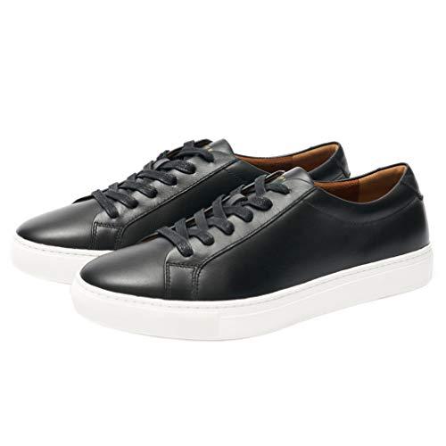 New Republic Men's Kurt Leather Sneaker - Black (10.5)
