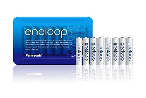 Panasonic eneloop, Ready-to-Use Ni-MH Akku, AAA Micro, 8er Pack mit wiederverwendbarer Verpackung, min. 750 mAh, 2100 Ladezyklen, starke Leistung, wiederaufladbare Akkubatterie