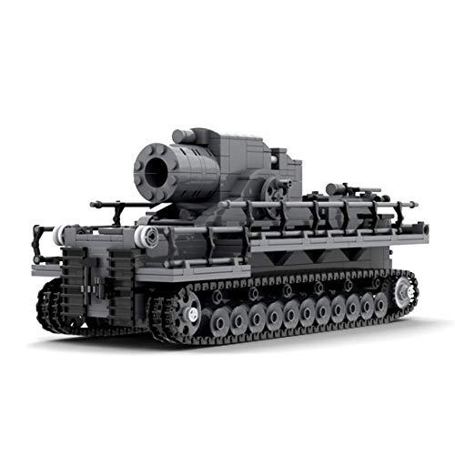 Seasy Tanque de construcción de bloques de construcción, 831 piezas, técnica militar WW2, tanque alemán Karl, compatible con la técnica Lego.
