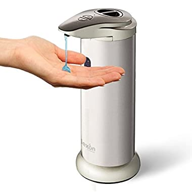 Automatic Soap Dispenser - Brushed Stainless Steel Jar for Kitchen, Bath, Restroom, Laundry; Best for Liquid Dish, Hand Soaps, Sanitizer, Lotion -No Pump Water Resistant bottle from Nexon Choice 300ml