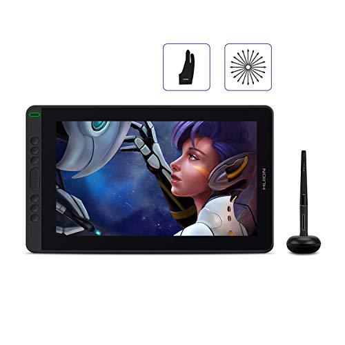 2020 HUION Kamvas 13, Soporte Android Tableta Gráfica con Pantalla, Laminado Completo, película antideslumbrante, Nuevo Stylus PW517 sin Batería con Función de Inclinación, 8 Teclas Express - Púrpura