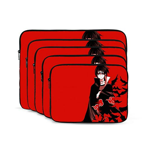 Uchiha Sasuke Naruto Anime Cartoon Laptop Sleeve Case Shockproof Oxford Protective Case/Notebook Computer Pocket Case/Tablet Carrying Bag Compatible. 12 Inch