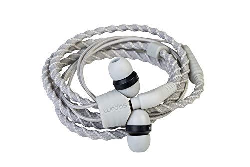 Wraps Wearable Braided Wristband Headphone Earbuds, Talk Flint (WRAPSCSIL-V15M)
