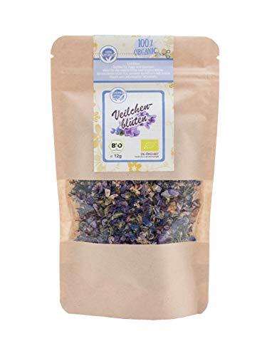 direct&friendly Bio Veilchenblüten getrocknet blau ganz Veilchenblütentee (12 g)