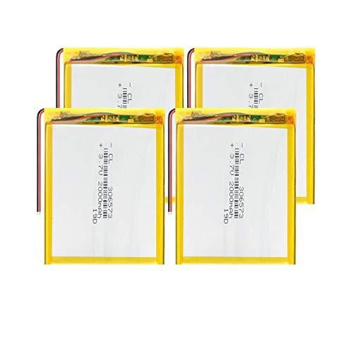 THENAGD BateríAs del PolíMero del Li-Po De 3.7v 306573 2000mah, Litio para El Presidente Teledirigido GPS De La Fan del USB 4pieces