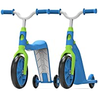 Swagtron K6 Convertible 4-in-1 Toddler Scooter Trike & Training Bike (Blue)