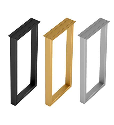 HXZ Patas de Mesa de Metal x1, Altura 70 cm / 100 cm Mesa de Comedor y Barra de Barra Patas de Soporte de Repuesto, Accesorios para Muebles de Bricolaje (Negro/Dorado/Plateado)