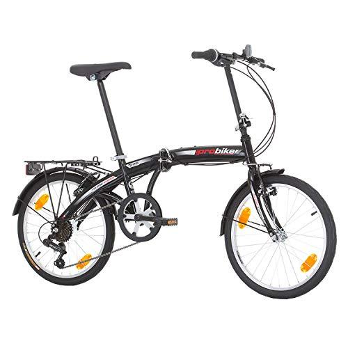 Multibrand PROBIKE Folding 20 Zoll Klapprad, Faltrad, Shimano 6 Gang, Herren-Fahrrad & Jungen-Fahrrad, geeignet ab 155 cm - 185 cm - 4