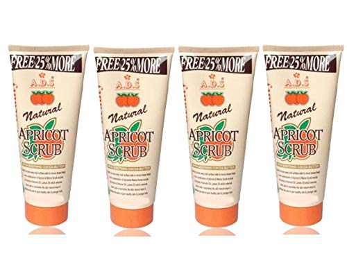 GLAVON ADS Everyday Naturals Hydrating & Exfoliating Apricot 200 gm Scrub in Combo with Crazy Lips Lip Balm(Yellow) [ Super Pack of 5 Items ]