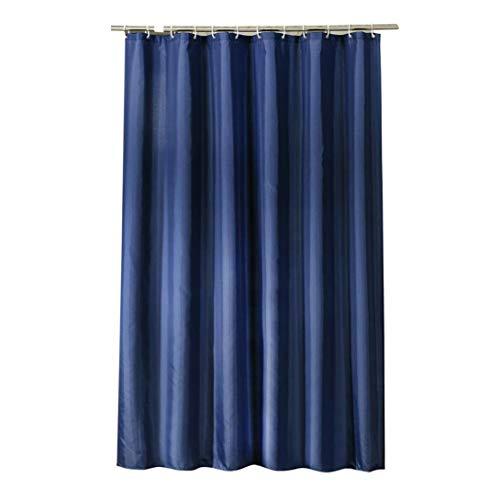 GUOCU Wasserabweisend Schimmelresistent Antibakteriell Blau Duschvorhang mit Polyestergewebe Waschbarer Umweltfre&lich Badvorhang Dunkelblau 100 * 180 cm