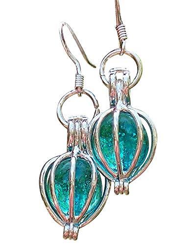 Recycled Vintage Mason Jar Drop Earrings