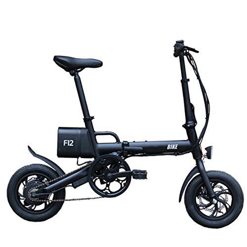 CLOUDH 12 '' Bicicleta Plegable EléCtrica, 250w Ebike para Adultos, 32 Kmh Ebike con ExtraíBle De Iones De Litio con Equipado con Interfaz USB, Frenos De Doble Disco