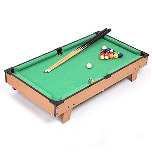 Billard Spielzeug Indoor- und Outdoor-Mini-Billardtisch Spiel Toy Tisch Dreieck Cue Chalk und Pinsel for Kinder und Erwachsene und tragbare interaktive Kugel Spielzeug Zixin