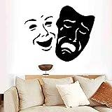 mlpnko Hermosa Cara Elegante Vinilo Mate decoración de la habitación Etiqueta de la Pared Sala de Estar habitación Infantil extraíble 45x55cm