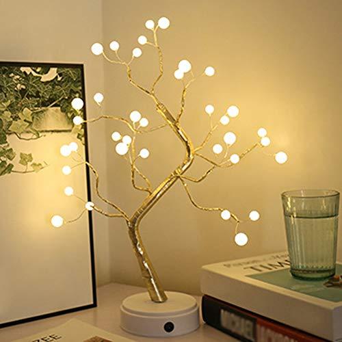 Filo di rame, LED fai da te regolabile a forma di albero bonsai design Pearl Firefly Night Light 36 LED/108 LED, perfetto per la decorazione della casa sulla scrivania o sul tavolo (36 LED)