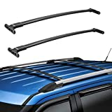 BougeRV Car Roof Rack Cross Bars for 2016-2019 Ford Explorer with Side Rails, Aluminum Cross Bar Replacement for Rooftop Cargo Carrier Bag Luggage Kayak Canoe Bike Snowboard Skiboard