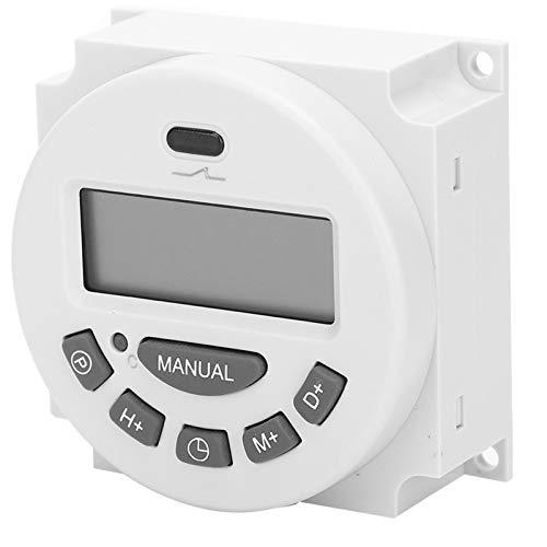 LANTRO JS - Interruptor de tiempo digital L701, temporizador electrónico de microordenador digital LCD de 220 V para equipos de radiodifusión