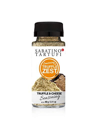 Sabatino Tartufi Truffle Zest Seasoning, Truffle & Cheese, The Original All Natural Gourmet Truffle Powder, Vegetarian Friendly, Black Truffles, Low Carb, 2.11 oz