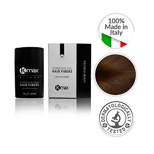 Kmax Microfibre di Cheratina/Concealing Hair Fibers - Black Edition - REGULAR (15gr) (Castano Medio)