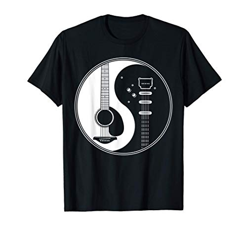 Guitarra acústica de plectro Ying Yang Regalo de una Camiseta