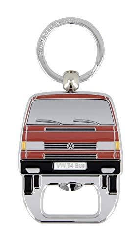 BRISA VW Collection - Volkswagen T4 Bulli Bus Schlüsselanhänger mit Flaschenöffner in Sichtverpackung (Rot)