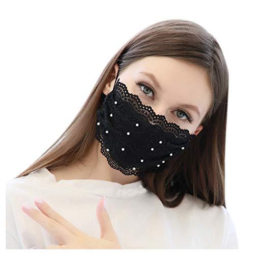 Hzing Face Mundschutzs, Permanent Antimicrobial, Spitzen Seite, Mundnasen Mundschutz, waschbar, ungiftig, Packung mit 4,5 Stück