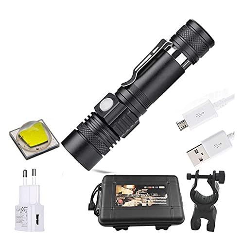 ykw L2 V6 Linterna LED Zoom Antorcha Bicicleta Luz Zoom Linterna Linterna (Color del Cuerpo: Tiene 1 batería)