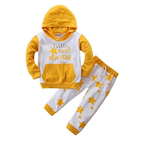 Voberry- (3M-24M) Costume pour Enfants Sweat-Shirt à Capuche à Manches Longues et à imprimé étoiles