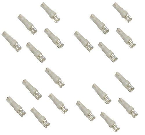 AERZETIX: 20 x Bombillas LED de salpicadero 12V T5 Luz blanc