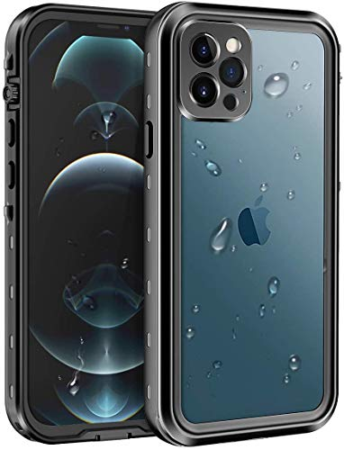AICase Funda Impermeable iphone 12 Pro[Anti-rasguños][Protección de 360 Grados],Case Protectora con Protector de Pantalla Incorporado para iphone 12 Pro 5G