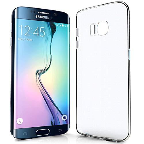 NewTop Cover Compatibile per Samsung Galaxy Note S6/S7/Edge/Plus, Custodia Morbido TPU Clear Protettiva Silicone Trasparente Slim Case Posteriore (per S6 Edge Plus)