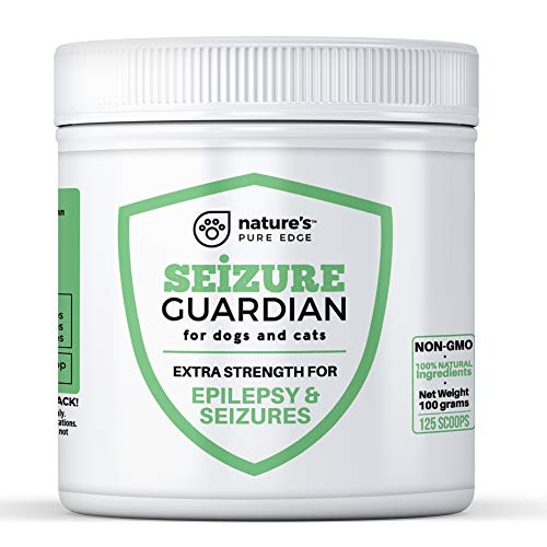Seizure Support for Dogs and Cats - Powerful Natural Epilepsy and Seizure Aid. Hemp, Ashwagandha, Blue Vervain, Valerian, L-tryptophan, L-Taurine, Passion Flower, Chamomile, Milk Thistle, Turmeric.