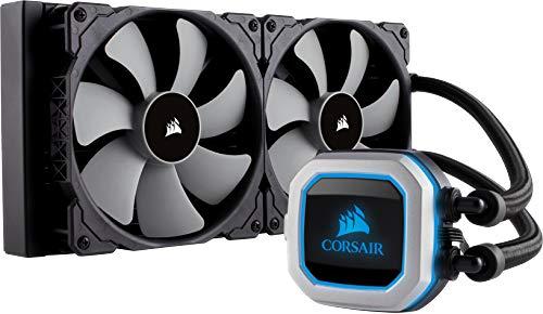 Corsair Serie Hydro H115i PRO Sistema di Raffreddamento a Liquido, Radiatore da 280 mm, Due Ventole PWM Serie ML da 140 mm, l'Illuminazione RGB, Compatibile con Socket Intel 115x/2066 e AMD AM4