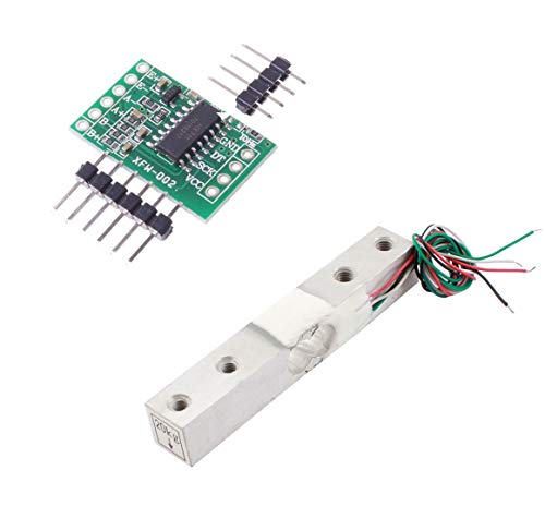 Aihasd Cella di carico Digitale Sensore di Peso 20KG Scala di Cucina Elettronica Portatile + HX711 Sensori di pesatura Modulo Ad per Arduino