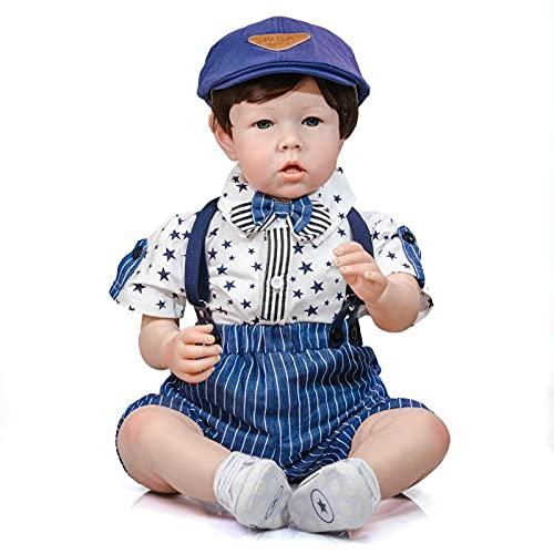 GiDiMi 70 cm 28 pulgadas tamaño grande renacido bebé niño liam acabado muñeca suave cuerpo 3D tono piel con venas niños desgaste modelo