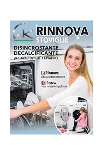 WK Rinnovastoviglie | Decalcificante | Sciogli Calcare Professsionale Per Lavastoviglie e Lavatrice | Curalavastoviglie e Curalavatrice | 3 Bustine