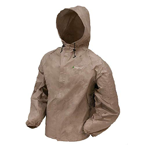 Frogg Toggs Men's Ultra-Lite2 Waterproof Rain Jacket, Khaki, Medium
