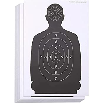 50 Pack Paper Targets for Shooting Range Practice Firearms Handguns Airsoft Throwing Knives  17 x 25 inch Silhouette
