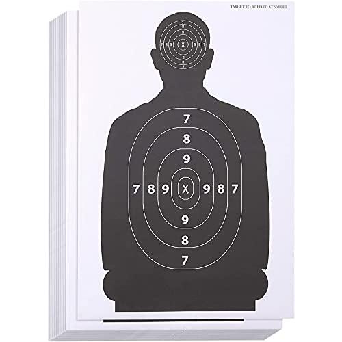 - La confezione contiene 50 bersagli a forma di persona con 2 zone da colpire, una sulla testa e una sul petto. Ideali per una vasta gamma di armi. Utilizzabili con una vasta gamma di armi diverse, pistole di alto calibro come fucili, pistole e anche...