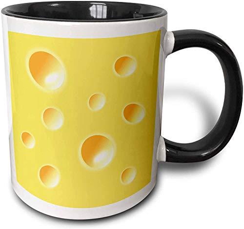Becher Yellow Swiss Cheese Slice Wedge Illusion - lustiger Spaß albern humorvoll skurrilen Humor