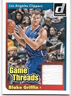 Blake Griffin 2014-15 Donruss Game Threads Los Angeles Clippers Jersey Insert Card #26