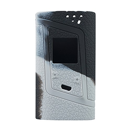 Smok Alien 220W Protective Gel Skin Case Cover Sleeve Wrap Fits 220 Watt Smoktech Alien 220 (Grey/Black)