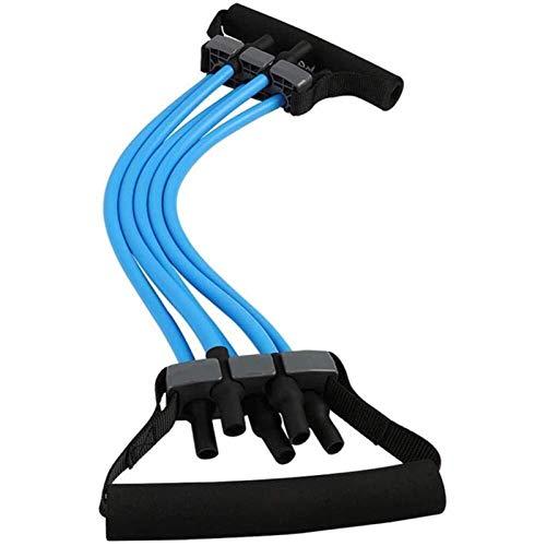 Auoeer Expansor de Pecho - 5 Tubos de látex Naturales Desmontables Tire de la Cuerda Cuerda Multifunción Multifunción Construir Músculo Fitness Equipo
