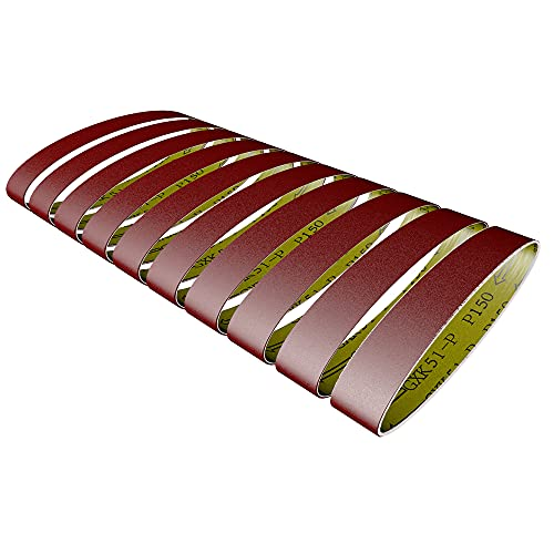 Kiboule 10 Unids 528 * 30 Mm Lijar Cinturones 60-600 Granos De Molienda Y Pulido De Reemplazo Para La Amoladora Angular
