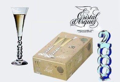 Cristal D'arques Millennium Champagne Flutes