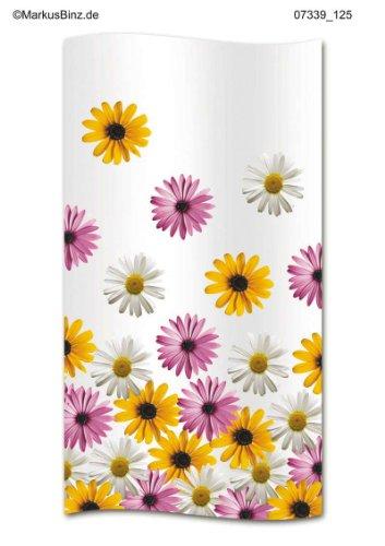 Duschvorhang Bloom Blumenblüten Mageriten weiss bunt 180cm breit x 200cm lang Vinyl inkl. Ringe