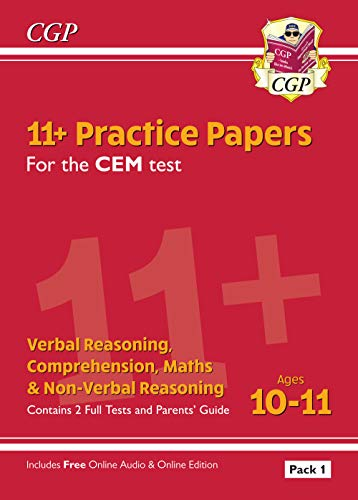 11+ CEM Practice Papers: Ages 10-11 - Pack 1 (with Parents' Guide & Online Edition): perfect for the 2020 and 2021 exams (CGP 11+ CEM)