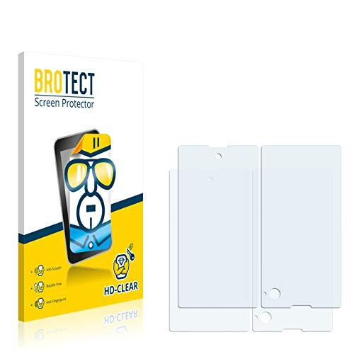 BROTECT Schutzfolie kompatibel mit Yota Devices Yotaphone (2 Stück) klare Bildschirmschutz-Folie
