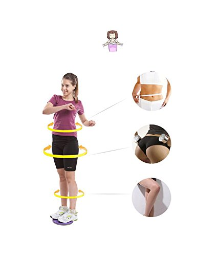 Product Image 4: chengsi Twisting Waist Disc Bodytwister Ankle Body Aerobic Exercise Foot Exercise Fitness Twister Magnet Balance Rotating Board nyp01 (Purple)