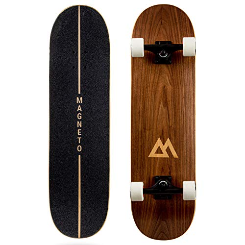 Magneto SUV Skateboards | Complete 31quot x 85quot Skateboard | 7 Layer Canadian Maple Deck | Fully Assembled | Designed for All Types of Riding | Natural